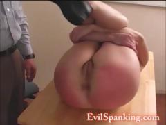 A Red Ass For This Naughty Teen