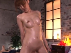 Japanese Babe Gives Head And Gets Bald Pussy Gangbanged Hard
