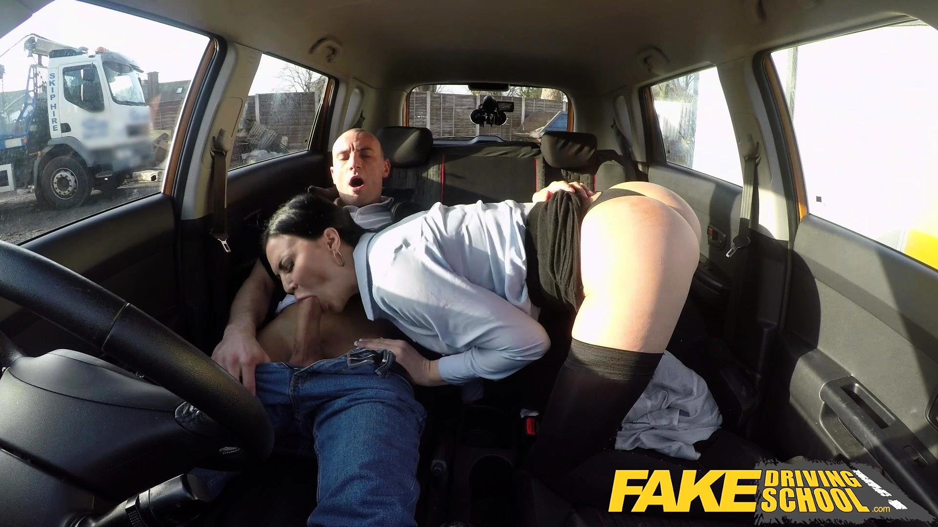 Fake Driving School Threesome