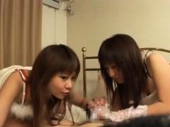 JAV CFNM gloved lewd women handjob play Subtitled anjinha –