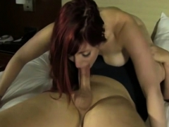 monster tit redhead enjoys a monster penis