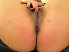 Hot curvy housewife Danielle fingering herself