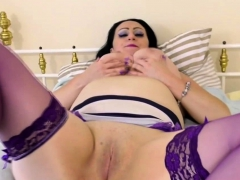 Naughty British Housewife Playing With Her Toy