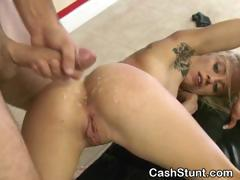 Blonde Fucked And Takes Cumshot On Ass In Money Talks Stunt