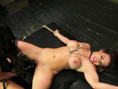 Sexually Excited Slut Team-fucked With Biggest Strapon
