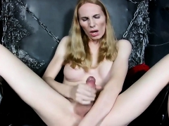 Russian Tgirl With Bigtits Masturbating