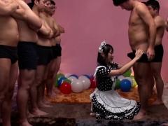JAV star Airi Natsume CFNM maid blowjob cumshot Subtitled anjinha –