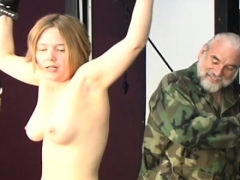 Flaming Naked Flogging And Non-professional Bondage Porn