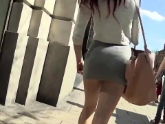 Micro Jupe In The Street In Public