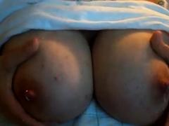 Bbw Milking Her Tits..