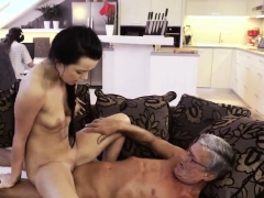 Taking Care Of Daddy And Skinny Old Woman He Was Much