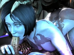Round Ass Cortana Getting Pussy Hammered Well
