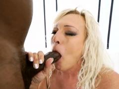 grandma blows black penis