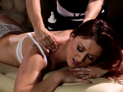 Redhead Masseuse Gets Orally Pleased