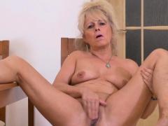 Euro Gilf Koko Starts Rubbing Her Sweet Matured Clit