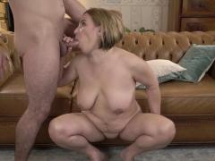 busty granny sucking dick
