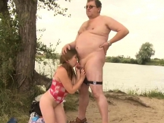 Marvelous Young Babe Gets Seduced By A Lascivious Old Fucker
