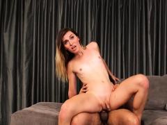 Giant Cock Dude Nailed Skinny Tgirl
