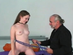 bare-woman-screams-with-chap-roughly-playing-with-her-vag