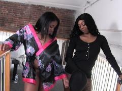 Royalty ( Mrs FEEDME ) and Kay Kush 2 on 1 facesitting p2