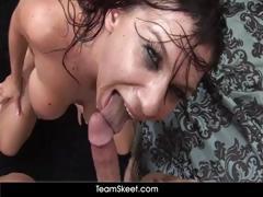 Teamskeet Facial Tits Ass Cumshot Compilation Video
