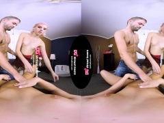 Tsvirtuallovers - Solid Threesome Fuck With Shemale
