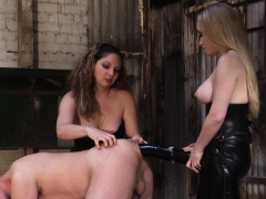 Kiki And Aiden Use A Massive Black Toy To Peg A Sissy Boy! Porn Video