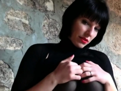 German Nylon Queen Anett Larmann In Pantyhose