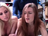 Shoplifter Christie and Ninas threesome