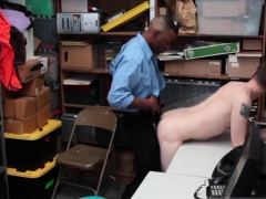 Teenperps tiny shoplifter gets fucked by two mall cop