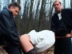 dogging-mature-wife-fuck-by-2-men-s-near-the-forest