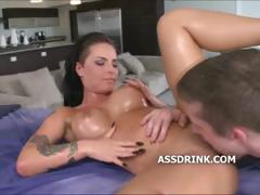brunette-pussy-licked-from-behind-before-her-slit-is-fucked