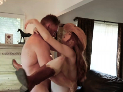 gingerpatch-ginger-in-cowboy-boots-gets-cocked