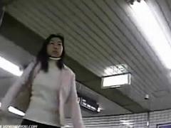 Japanese Schoolgirl Upskirt In Public