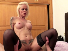 he caught hot german milf sophia in stockings and get fuck