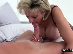 cheating british milf lady sonia pops out her giganti36ace