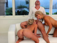 mom-and-partner-s-daughter-threesome-on-couch-first-time