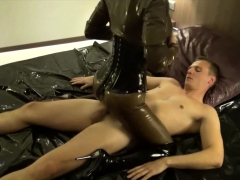german latex mistress in rough backdoor fuck and creampie in butt