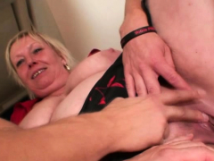 very old sexy granma pleases two boys woman