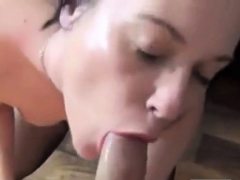 sexy slut takes a sperm shot with a golden piss chaser