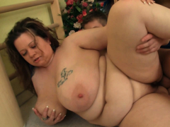 big titted fat booty chubby plumper seduces fitness trainer