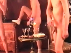 Brazilian wild gays having group sex party