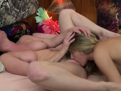 petite-blonde-lets-her-hot-roomate-lick-her-wet-pussy-on-bed