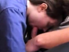 brunette 18 yo woman suck dick an swalloving sperm