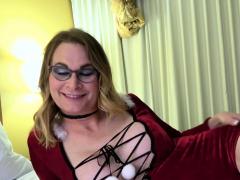 blonde-transsexual-amateur-jerking-cock