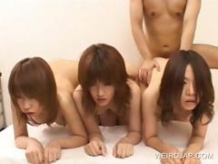 Asian Teens Fucked Doggie In A Row