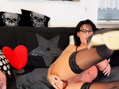german-big-boobs-dildo-show-tattoo-milf