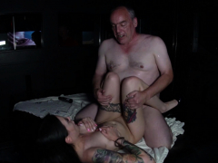 German Big Tits Teen in 2 real Fan Fuck Dates with old Man
