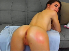 Webcam girls self spanking