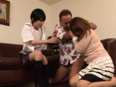 Delicious japanese anal bitches enjoying coarse gang bang